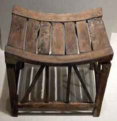 Furniture for the home - Egyptian Wood Stool with...