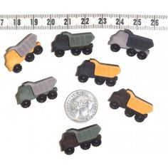 Tip Trucks Novelty Button Embellishments #299