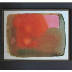 Dwell Studio - Peach Pink Watercolor Artwork 23w x 29h - $1095.00