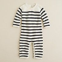 stop it, black and white baby stripes. just precious.