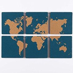 World map cork board 28x16 black blackbrown products nexxt ecole self adhesive silk screened corkboards with world map image 5 by turquoise set of 6 cork board gumiabroncs Images