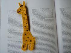 marque-page girafe au crochet  BOOKMARK