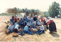 It is hot in Sardegna. Here the harvesters take a welcome lunch break, in Turri Sardegna.