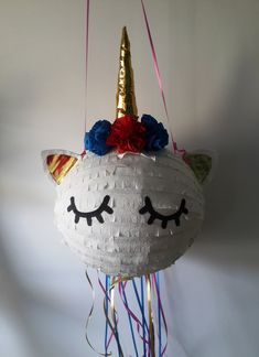 SLEEPING UNICORN pinata - birthday gift, party decoration, birthday and any other party joy... for all ages with young spirit :) by PinjateNoviSad on Etsy