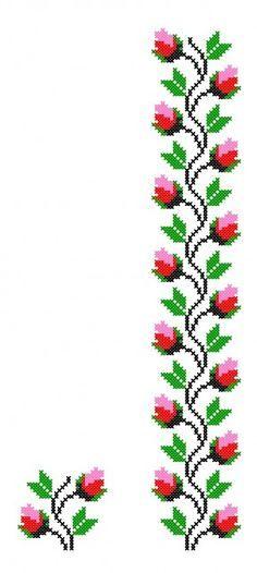 Tulip border cross stitch.