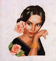 Gallery.ru / nehne - Альбом El perfume de las rosas Victorian Women, Perfume, Hats For Women, Cross Stitch Embroidery, Needlework, Mona Lisa, Disney Characters, Fictional Characters, Snow White
