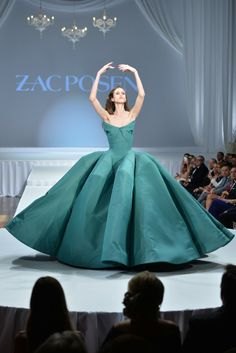 "On the runway at the ""Suzanne Rogers Presents Zac Posen"" event. [Photo by George Pimentel/Courtesy of Zac Posen] jaglady"