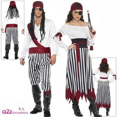 Pirate Woman Man Adult Lady Costume Pirates of the Carribean Couples Fancy Dress Couples Fancy Dress, Pirate Bandana, Pirate Woman, Costume Makeup, Costumes For Women, Pirates, Online Price, Best Deals, Lady
