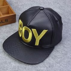 58cff5c8ca5e0b Yellow Casual & Stylish Boy Letter Embroidery Snake Skin Hip Hop Cap For Men  & Women