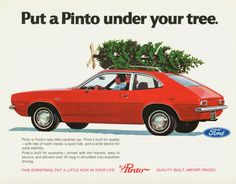 Put a Pinto under your tree this year! #Ford #Pinto #Vintage #Classic #Peoria #Illinois # Christmas #Christmastree #1971