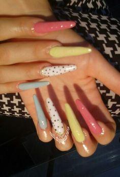 #Uñas #estilleto #nailstylepozarica