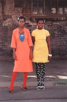 "Contemporary African Photography:  Nontsikelelo ""Lolo"" Veleko Cindy and Nkuli, from Beauty Is in the Eye of the Beholder, Johannesburg, 2003-04"