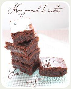 Fondant au chocolat (sans farine) et amandes torréfiées