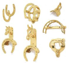 Free shipping on orders over $75 - Brass Bridle Hooks add a bit of bling to your tack room. Brass bridle hangers include matching hardware.