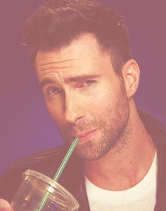 Adam Levine and starbucks....two of my favorite things