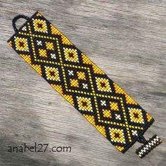 off loom beading stitches Beaded Braclets, Bead Loom Bracelets, Beaded Bracelet Patterns, Peyote Stitch Patterns, Bead Loom Patterns, Beading Patterns, Tablet Weaving, Loom Weaving, Tapestry Weaving