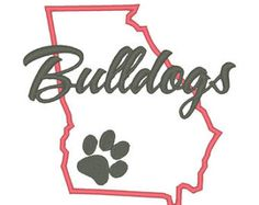 georgia bulldogs embroidery – Etsy