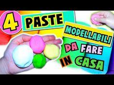 4 PASTE MODELLABILI da fare IN CASA (Pongo,Porcellana fredda,Plastilina e Pasta di sale) - YouTube
