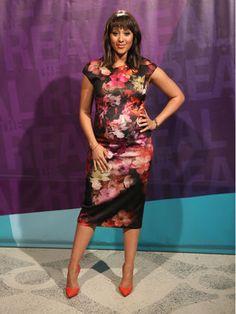 Tamera in Ted Baker dress & Alexander McQueen pumps  Style Breakdown: Mar. 23 – 27, 2015 - The Real Talk Show Photo Gallery