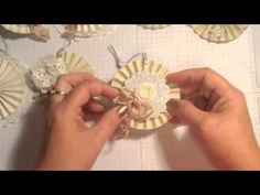 ▶ Stampin' Up! Video Tutorial More Holiday Ornaments and Gift Toppers - YouTube