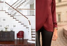 Moda + Décor | Marsala. Veja: http://www.casadevalentina.com.br/blog/detalhes/moda-+-decor--marsala-3116 #decor #decoracao #interior #design #casa #home #house #idea #ideia #detalhes #details #estilo #casadevalentina #color #cor #marsala