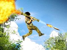 The rocket jump:O geniale special effects!!