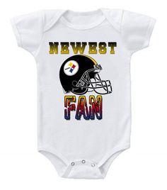NEW Football Baby Bodysuits Creeper NFL Pittsburgh Steelers #2