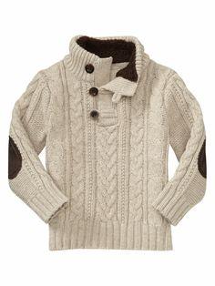 Девочки. очень понравился вот такой свитер для мальчика. По-моему, он подходит как для 2-летнего, таки для 20-летнего! Очень универсальный вариант!