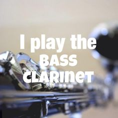 I play the bass clarinet