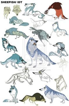wolf || CHARACTER DESIGN REFERENCES | Find more at…