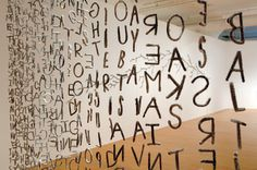 Olga Ziemska Octavio 2007 Crystallized handmade chenille stem letters, monofilament Visual depiction of the poem Sight and Touch (for Balthus) by Octavio Paz.