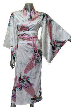 Long Yukata Japanese Kimono Women's Satin Silk « Clothing Impulse