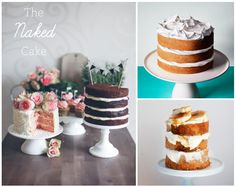 "Truth is...i never really liked Fondant. So now i have an excuse for a wanting a simple naked cake for an intimate  ""just for the two of us"" wedding. So appropriate right?"