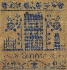 Little House Needleworks: Summer Silk Seasons Design