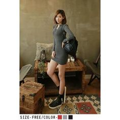 Buy 'UUZONE – Half-Placket Knit Minidress' with Free International Shipping at YesStyle.com. Browse and shop for thousands of Asian fashion items from South Korea and more!