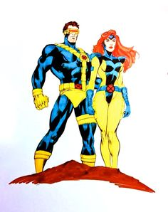 Jim Lee era  Cyclops and Jean Grey