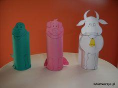 Krokodyl, świnka i krowa - stworzone z rolki po papierze toaletowym :)  #krokodyl #krowa #krowka #swinka #swinia #rolkapopapierze #handmade #plastykawprzedszkolu #przedszkole #lubietworzyc #DIY #crocodile #cow #pig #toiletroll #artclassinpreschool #preschool #kindergarten #kidscraft #papercraft
