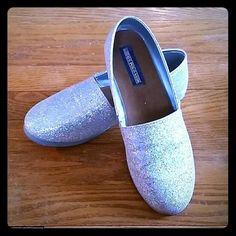#Designer #USPOLOASSN #Polo #RalphLauren #Silver #Sparkly #Flats #Shoes EUC