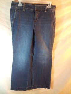 Tommy Hilfiger Women's Blue Jeans American Splendor Mid-Rise Stretch 8x31 Inseam #TommyHilfiger #BootCut