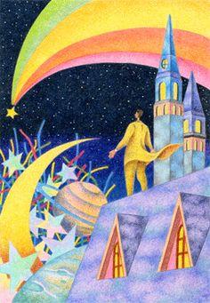 Fairy tale illustration - Shooting star