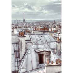 Paris Rooftops Wall Mural ($37) ❤ liked on Polyvore featuring home, home decor, wall art, pictures, backgrounds, art, paris, cities, mounted wall art y home wall decor