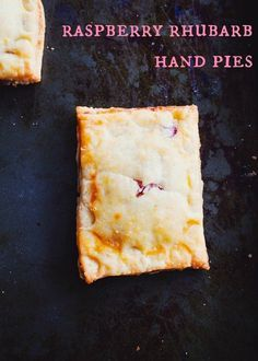 #GlutenFree Raspberry Rhubarb Hand Pies •• recipe