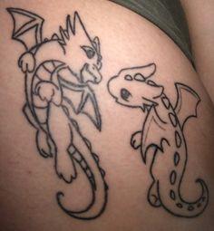 Baby dragons tattoo