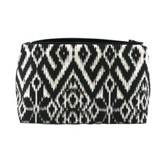 Graphic Makeup Bag / Cosmetic Bag in Black and by JordaniSarreal, $11.95