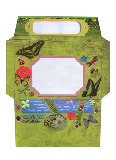 Printable Envelope Garden #Envelope #Stationary #Card