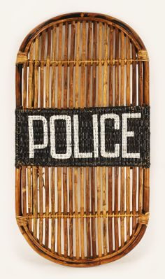 Historical Bamboo POLICE Riot Shield