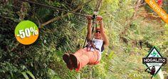 Nogalito Eco Park - $450 en lugar de $900 por 1 Paseo en Canopy junto al Río Click http://cupocity.com/