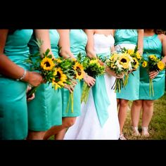 Sunflower bouquets!