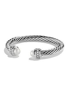 David Yurman Cable Classics Bracelet with Pearls and Diamonds - Pearl