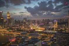 Shot from the rooftop of The Ritz-Carlton Millenia Singapore on 13 July 2019 Top Place, Happenings, Rooftop, Singapore, New York Skyline, Times Square, Asia, Around The Worlds, Explore